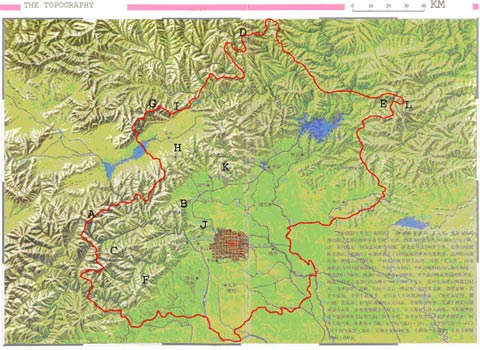 Map Of China And Surrounding Areas.Urban Habitats Flora Of Beijing An Overview And Suggestions For